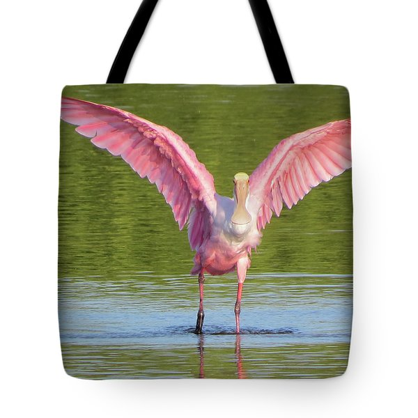 Up, Up And Away Sanibel Spoonbill Tote Bag