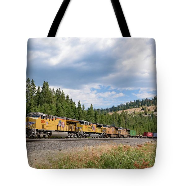Up2650 Westbound From Donner Pass Tote Bag