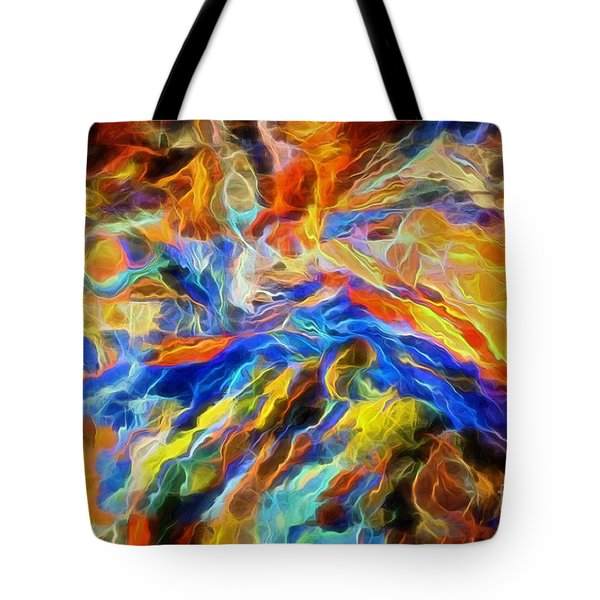 updated Our God is a Consuming Fire Tote Bag