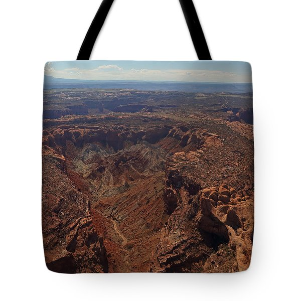 Upheaval Dome In Canyonlands National Park Tote Bag