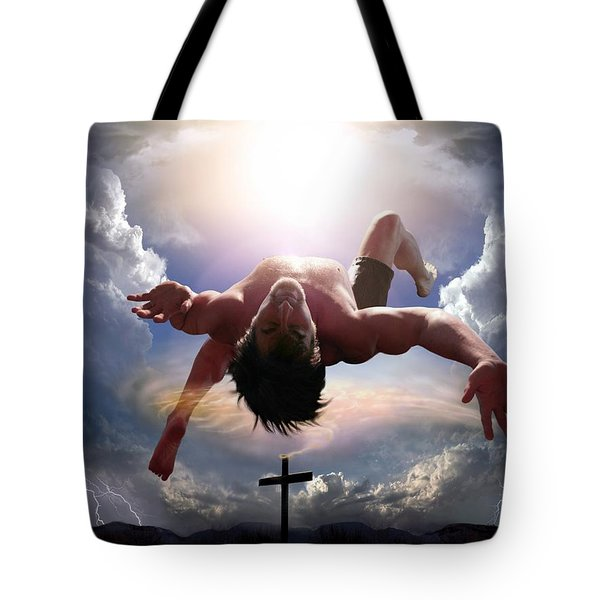 Upheld By Grace Tote Bag by Bill Stephens