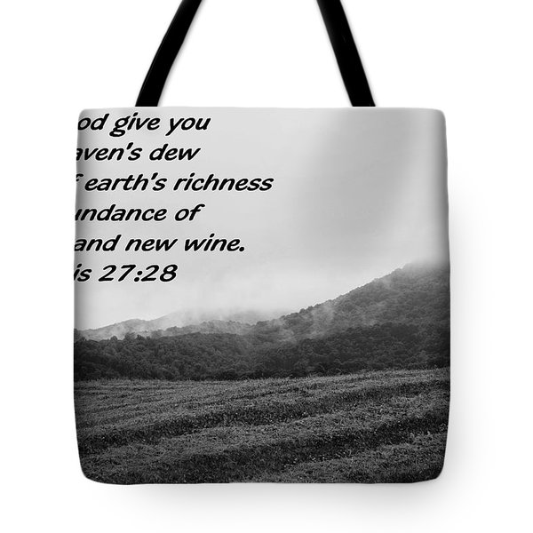 Uplifting Fog Tote Bag by Eric Liller