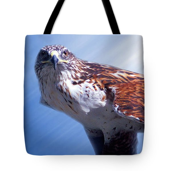 Upon His Perch Tote Bag by Greg Slocum