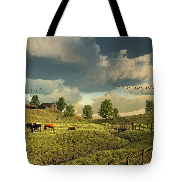 Upon The Rural Seas Tote Bag