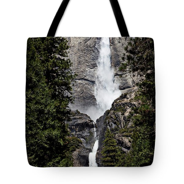 Upper And Lower Yosemite Falls Tote Bag by Garry Gay