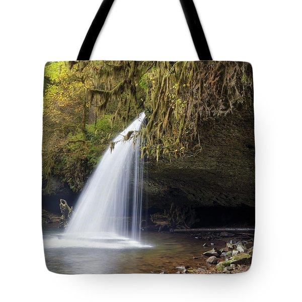 Upper Butte Creek Falls Closeup Tote Bag by David Gn