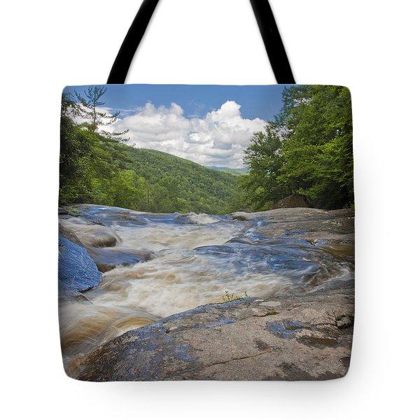 Upper Creek Waterfalls Tote Bag