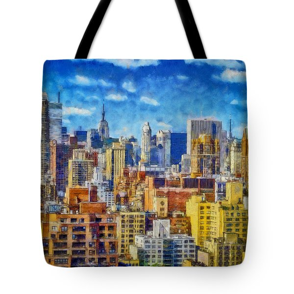 Upper Eastside Skyline Tote Bag