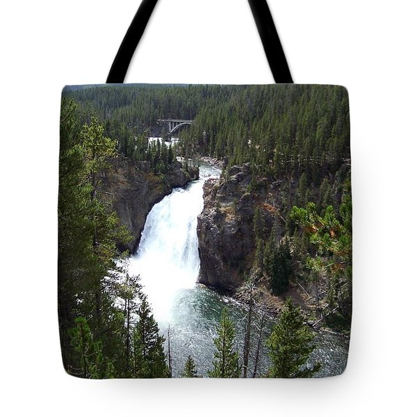Tote Bag featuring the photograph Upper Falls by Charles Robinson