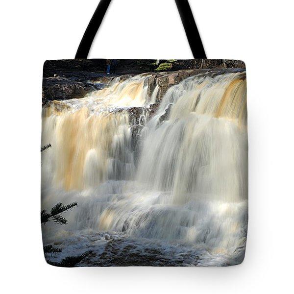Upper Falls Gooseberry River Tote Bag