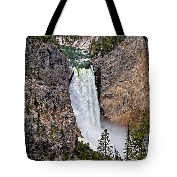 Tote Bag featuring the photograph Upper Falls by John Gilbert