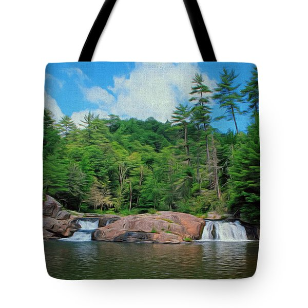 Upper Falls Of Linville Tote Bag