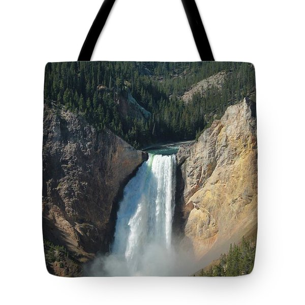 Upper Falls, Yellowstone River Tote Bag