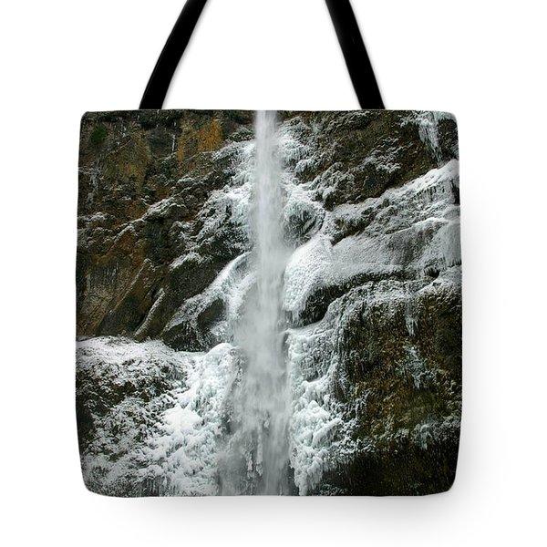 Upper Multnomah Falls Ice Tote Bag