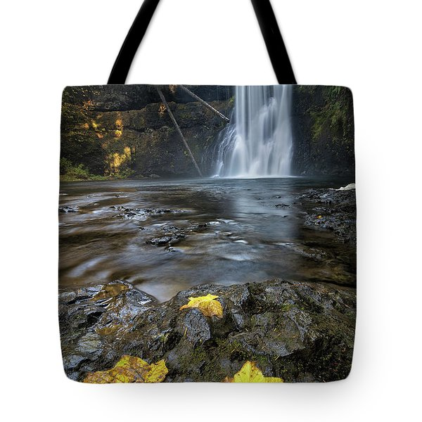 Upper North Falls In Autumn Tote Bag by David Gn