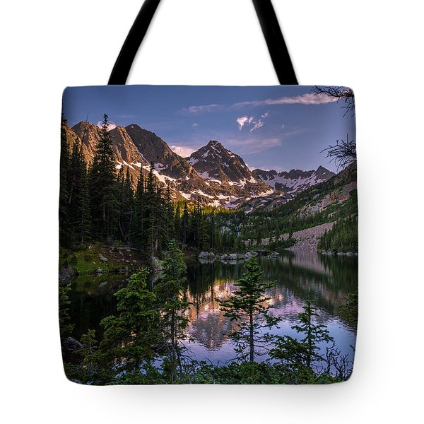 Upper Slate Lake Evening Glow Tote Bag