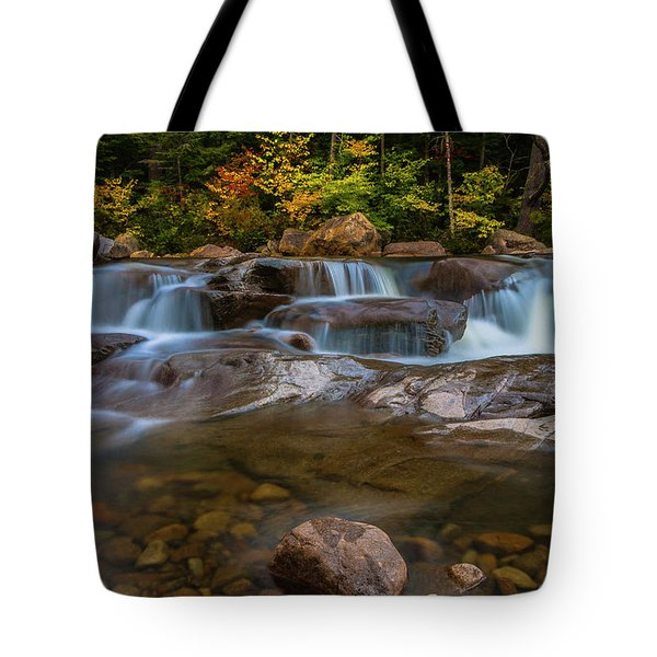Tote Bag featuring the photograph Upper Swift River Falls In White Mountains New Hampshire by Ranjay Mitra