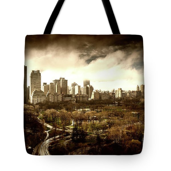 Upper West Side Of New York In Spring Tote Bag