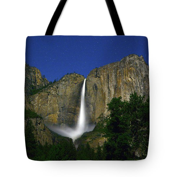 Upper Yosemite Falls Under The Stairs Tote Bag