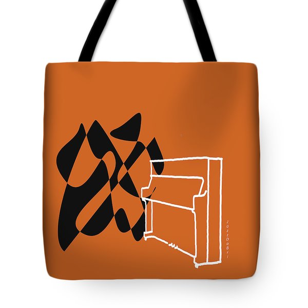 Tote Bag featuring the digital art Upright Piano In Orange by Jazz DaBri