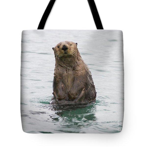 Upright Sea Otter Tote Bag
