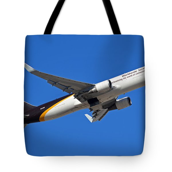Ups Boeing 767-34af N332up Phoenix Sky Harbor January 12 2015 Tote Bag