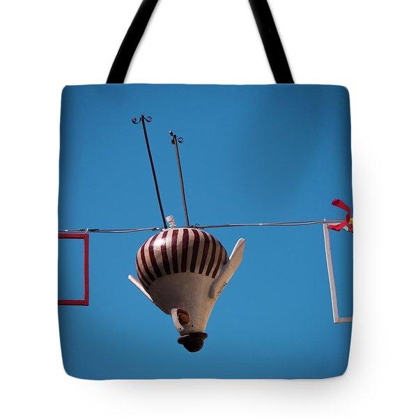 Upside Down Chicken Tote Bag by Rae Tucker