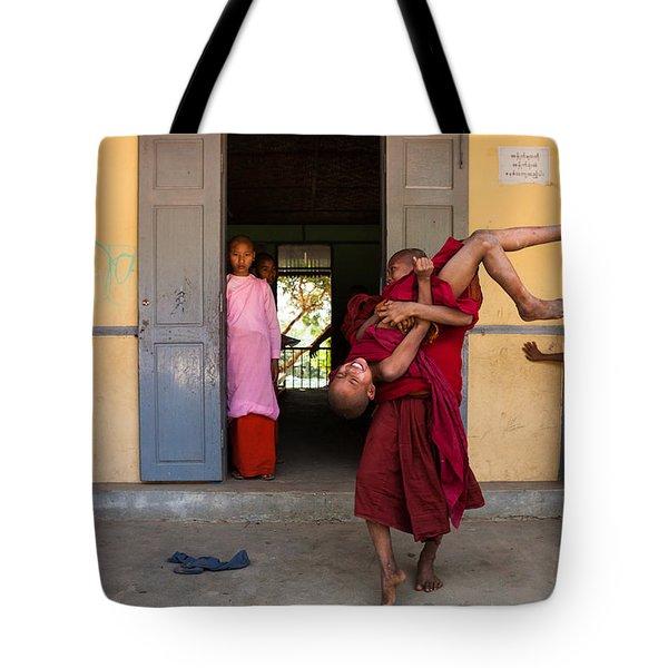 Upside Down Tote Bag by Marji Lang