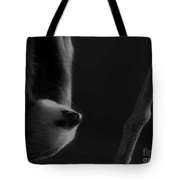 Upside Down Sloth Tote Bag