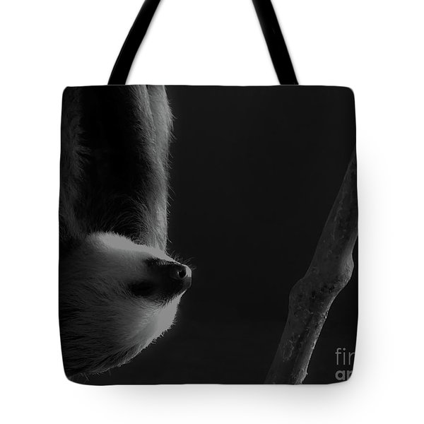 Upside Down Sloth Tote Bag