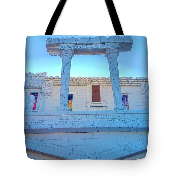 Upside Down White House Tote Bag