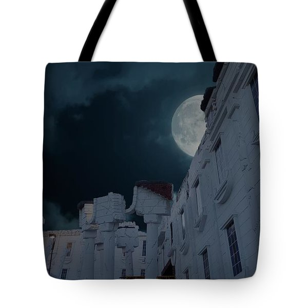 Upside Down White House At Night Tote Bag
