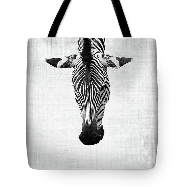 Upside Down Zebra Tote Bag