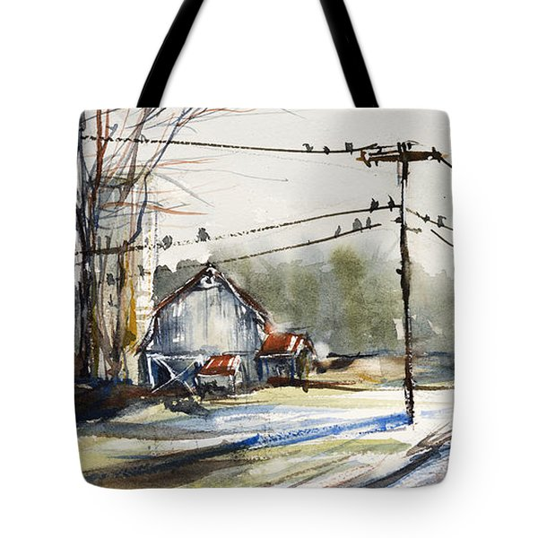 Upstate Ny Sunday Drive Tote Bag by Judith Levins