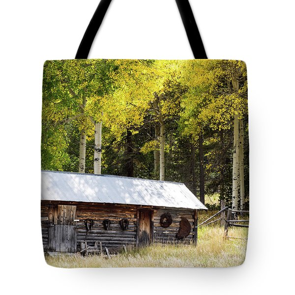Uptop A Colorado Ghost Town Tote Bag by Nadja Rider
