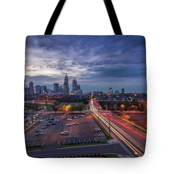 Uptown Charlotte Rush Hour Tote Bag