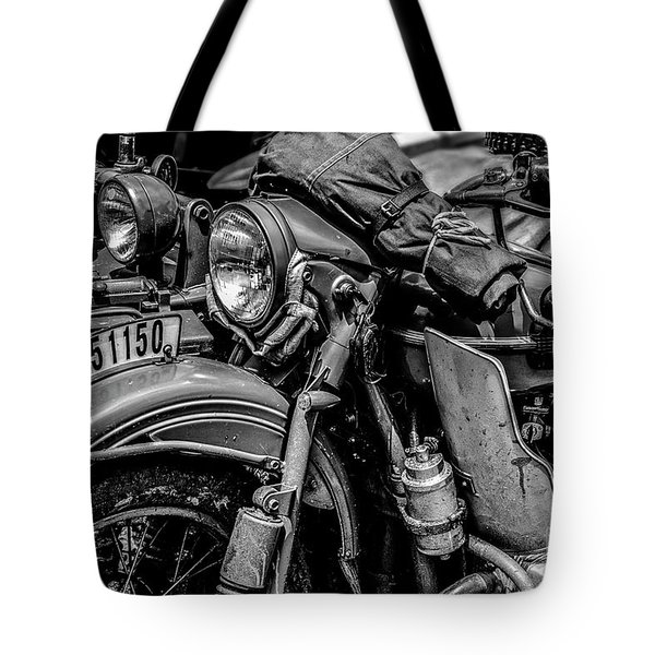 Tote Bag featuring the photograph Ural Patrol Bike by Anthony Citro