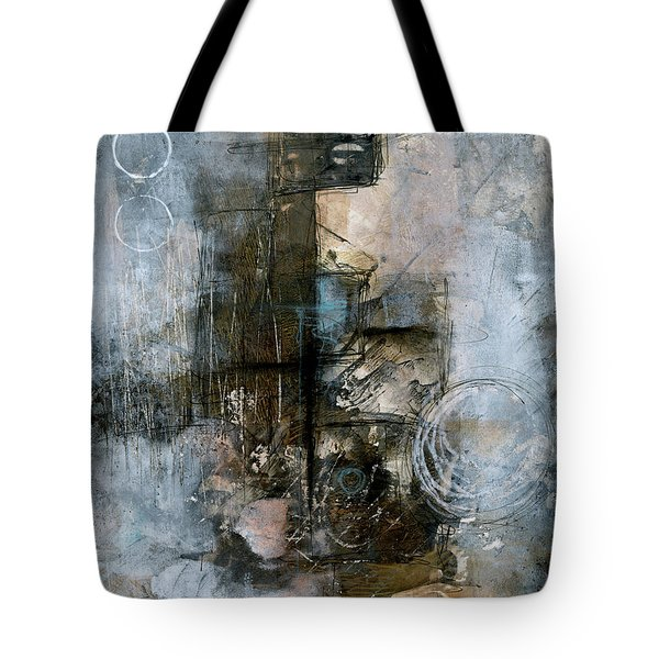 Urban Abstract Cool Tones Tote Bag