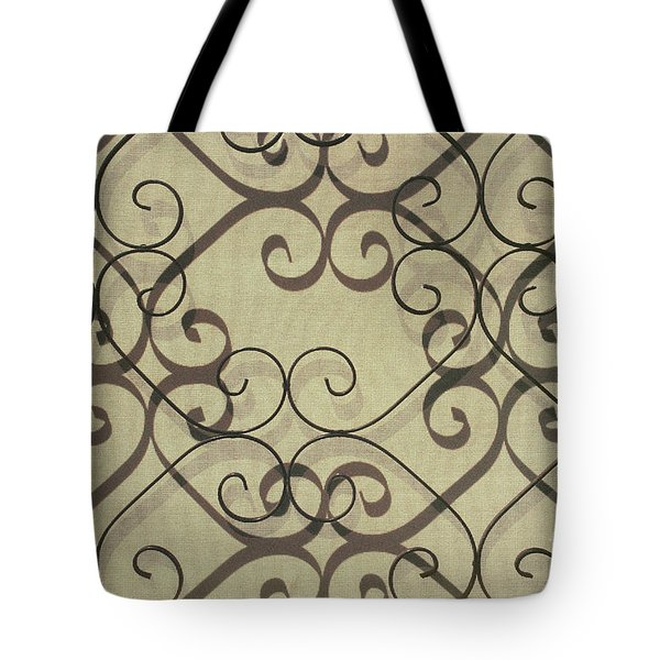 urban abstract shadows photograph - Variations On a Screen Tote Bag
