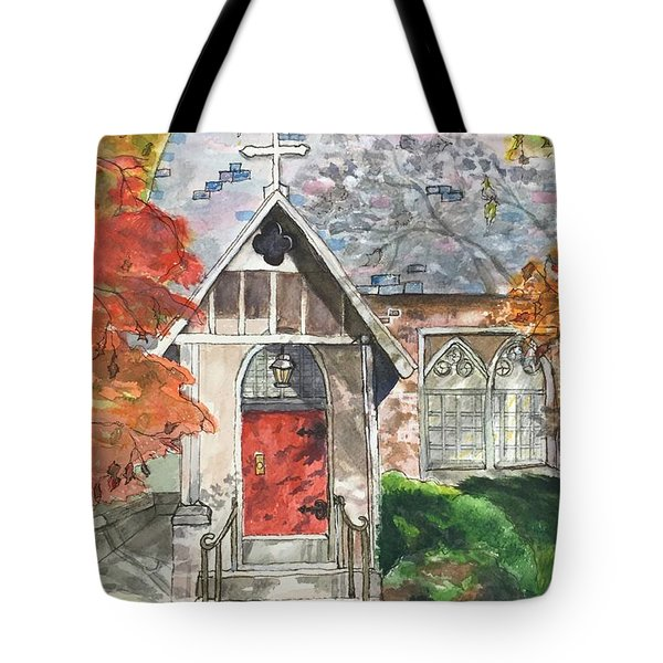 Urban  Church Sketching Tote Bag