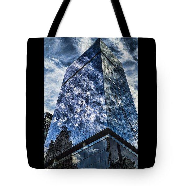 Urban Clouds Reflecting  Tote Bag
