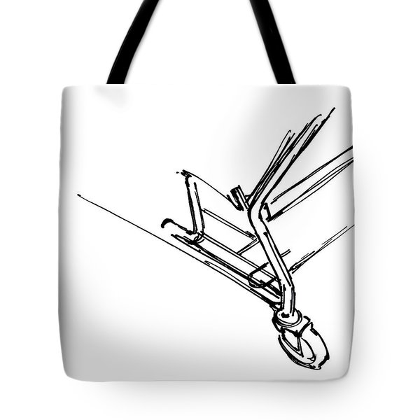 Urban Drawing Shopping Cart Tote Bag by Chad Glass