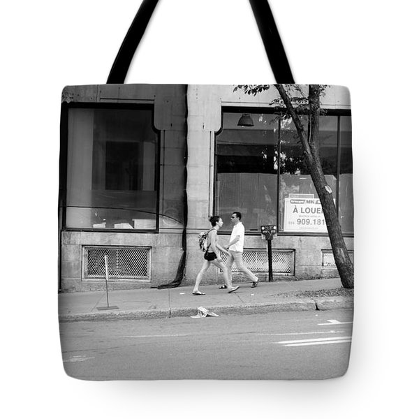 Tote Bag featuring the photograph Urban Encounter by Valentino Visentini