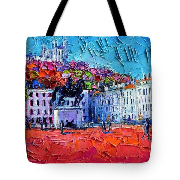 Urban Impression - Bellecour Square In Lyon France Tote Bag