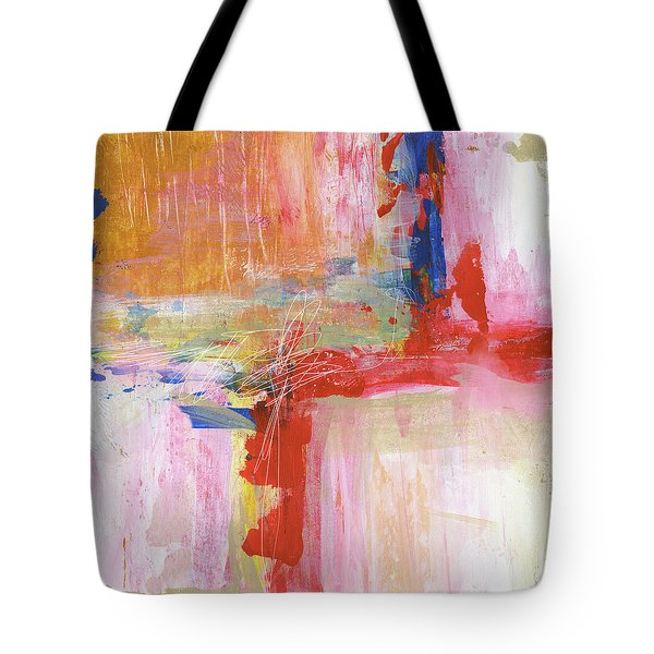 Urban Picnic-abstract Art By Linda Woods Tote Bag