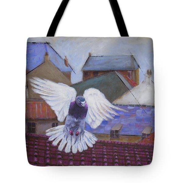 Urban Pigeon Tote Bag