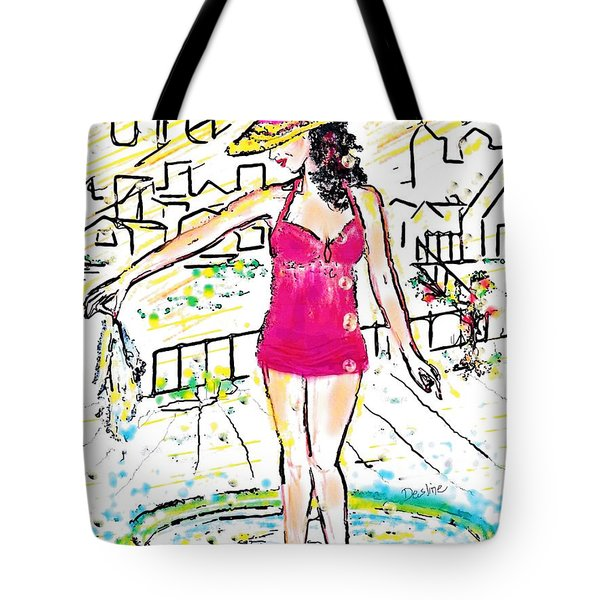 Urban Poolside Tote Bag