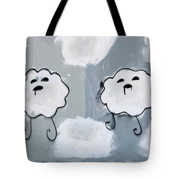 Tote Bag featuring the photograph Urban Rain Clouds by Art Block Collections