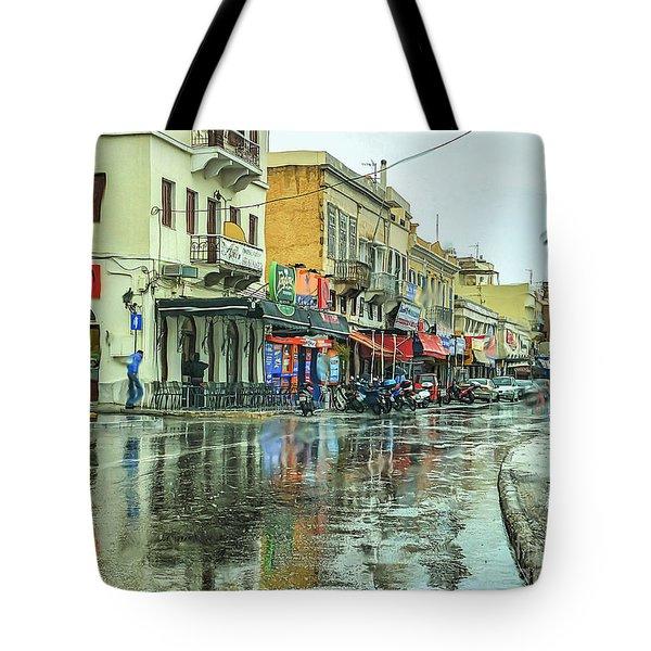 Urban Rain Tote Bag