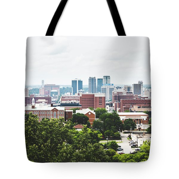 Tote Bag featuring the photograph Urban Scenes In Birmingham  by Shelby Young